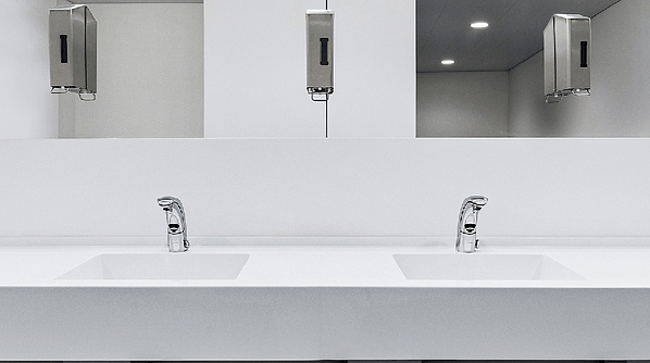 'Green' thinking combined with smart technology goes into many of our touchless faucets providing greater control over water usage. Image by Signa