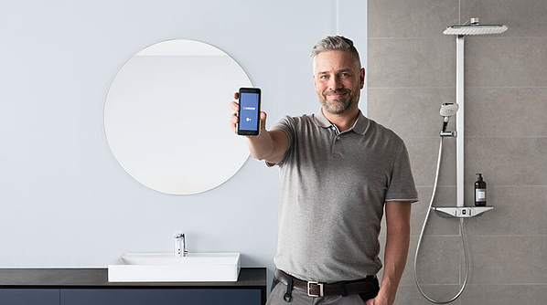 Most of our smart faucets can be controlled using the HANSA Connect app based on Bluetooth technology.