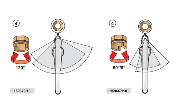 HANSA propose des mitigeurs avec bec haut ou bec bas avec un angle de pivotement réglable à 60° ou 120°