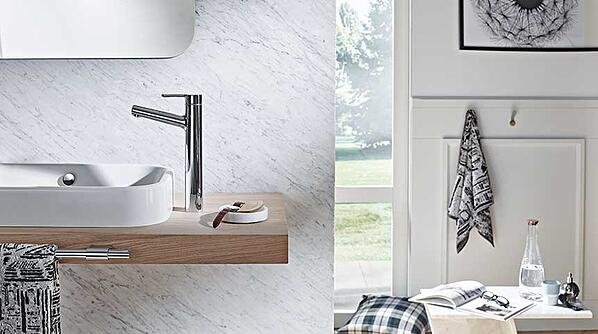 Vessel sink with higher body faucet HANSADESIGNO Style 51692283