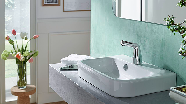 Touchless faucets can cut water consumption by half and reduce the spread of germs and bacteria