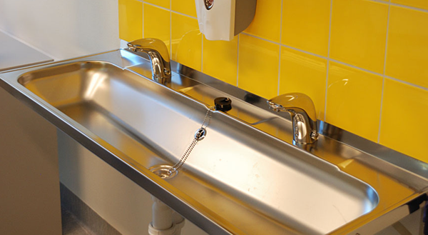 Touchless faucets significantly promote hand hygiene compared to manual faucets.