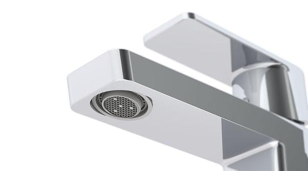 Met een regelbare beluchter kunt u de doorstroomsnelheid van het water van de kraan flexibel aanpassen in functie van de verschillende vormen en maten van de wastafels.