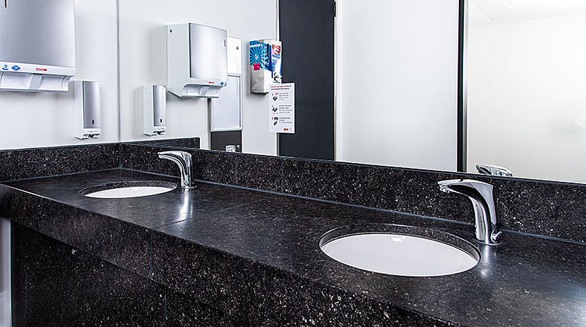 Touchless faucets can significantly reduce the presence of bacteria and viruses sitting on the surface of the faucet.