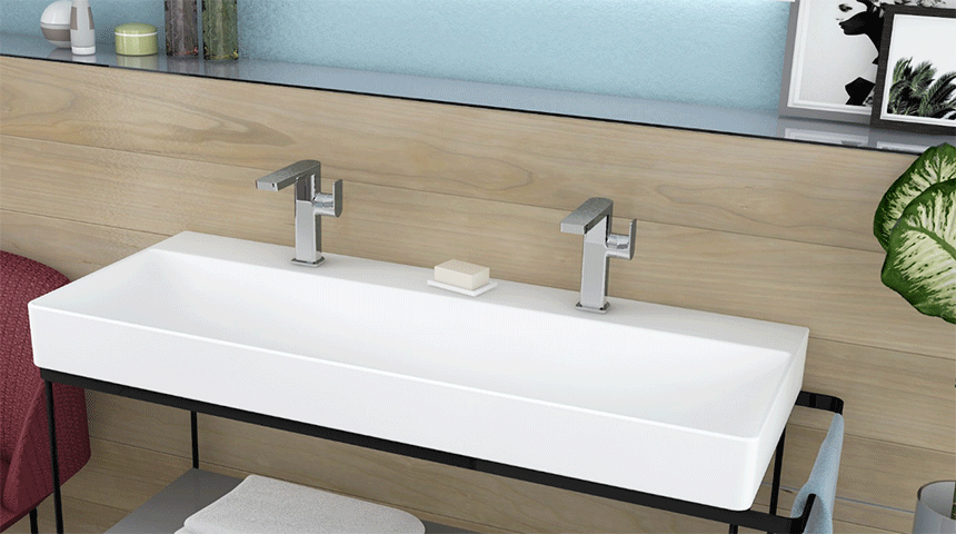 When choosing a faucet, it is important to consider the shape and size of the sink.