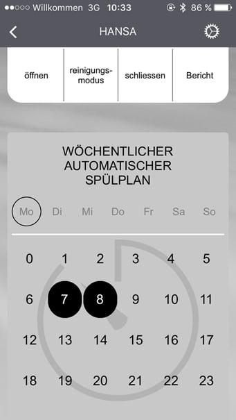 kompliziert und effizient: Über die kostenlose HANSA Connect App** kann ein automatischer Spülplan erstellt werden. Foto: Hansa Armaturen GmbH