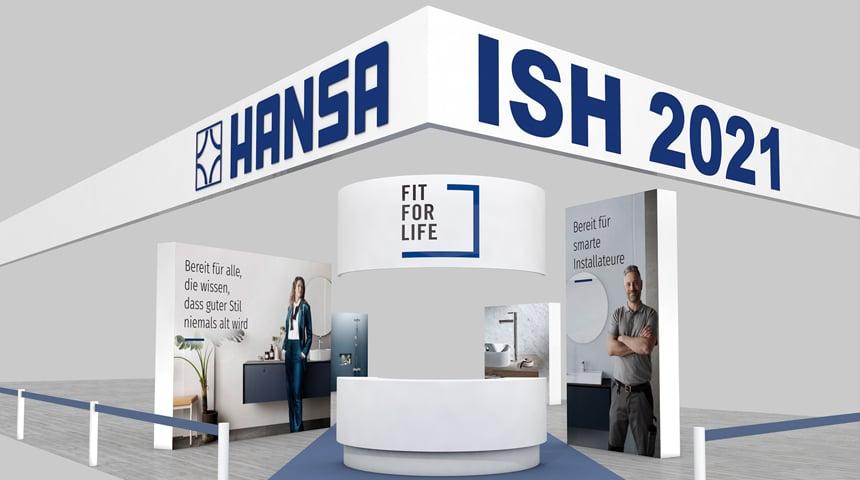 Neues Hygienekonzept und angepasste Messepräsenz: HANSA hält an der ISH 2021 fest.  Foto: Hansa Armaturen GmbH