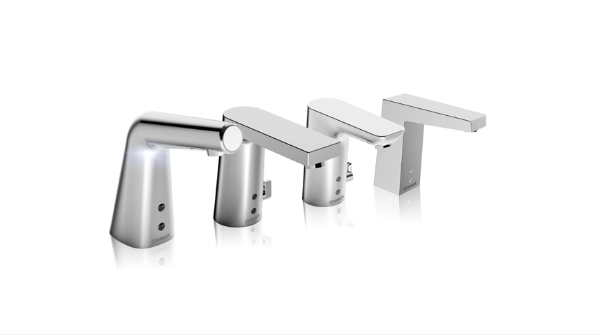 Das vielseitige SMART Sortiment von HANSA beinhaltet berührungslose Armaturen für alle Anforderungen und Geschmäcker. Foto: Hansa Armaturen GmbH