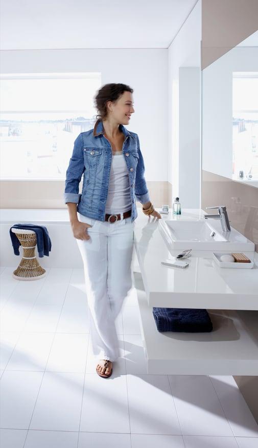 """Studie belegt: Die deutsche Gesellschaft denkt """"grüner"""" und ist bereit, mehr in ökologische Lösungen zu investieren. HANSA setzt daher verstärkt auf die Entwicklung wassersparender Features für Waschtisch und Dusche."""