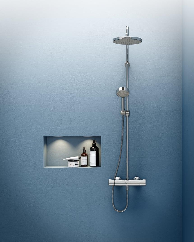 Neuer Duschkomfort im HANSA|HOME Segment: das HANSAMICRA Duschsystem. Foto: Hansa Armaturen GmbH