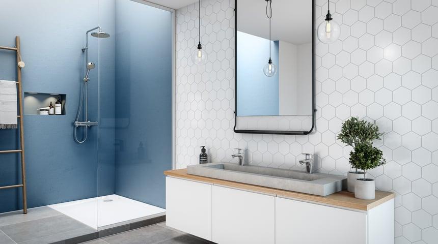 Mit seinem schlanken, zeitgemäßen Design fügt sich HANSAMICRA ideal in moderne Badwelten. Foto: Hansa Armaturen GmbH