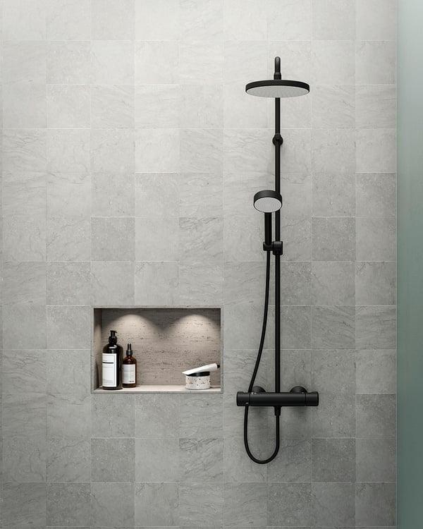 HANSA Matt Black shower system