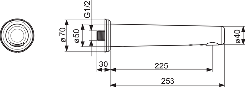 Bezdotykové nástenné batérie HANSAELECTRA ,velikost 225  mm