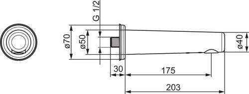 Bezdotykové nástenné batérie HANSAELECTRA ,velikost 175 mm