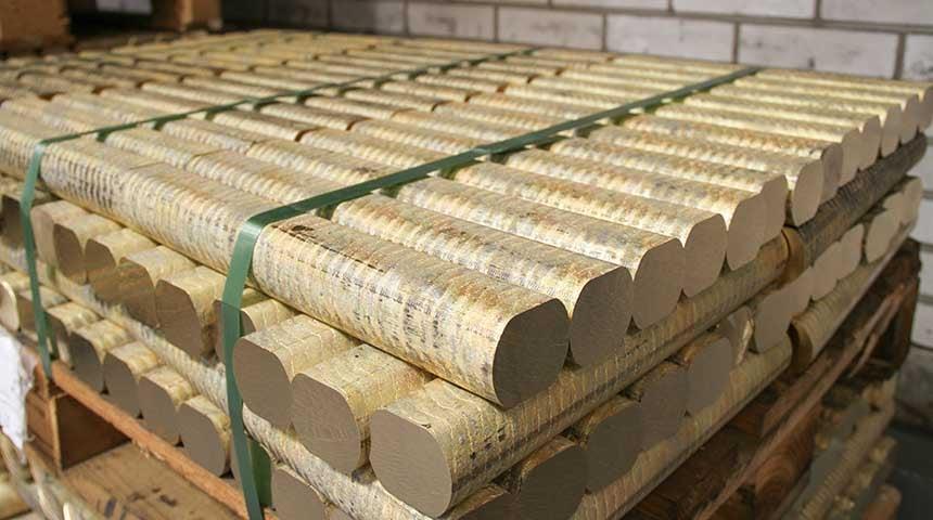 Les lingots de laiton utilisés par le groupe Oras sont issus d'un laiton spécifique qui résiste à la dézincification.