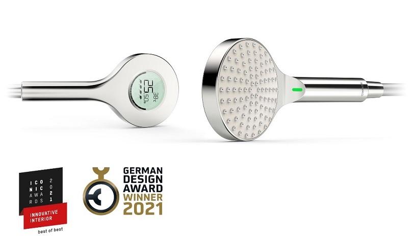 German Design Award 2021 a ICONIC AWARDS 2021: Nová digitální ruční sprcha HANSA vyhrává ve třech kategoriích