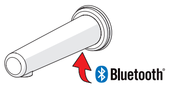Vanaf nu is de HANSAELECTRAtouchless wandkraan ook instelbaar via Bluetooth